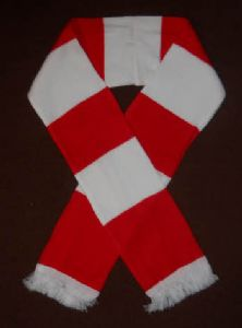 Red and White Retro Bar Scarf.